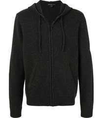 james perse fine knit hoodie - grey