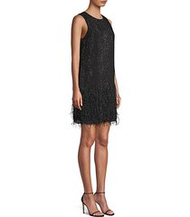 allegra beaded feather dress