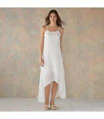 hi low front arched hem dress