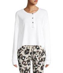 n:philanthropy women's harleen cotton sweatshirt - white - size s