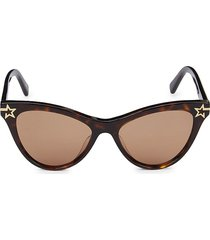 stella mccartney women's 52mm cat eye sunglasses - havana