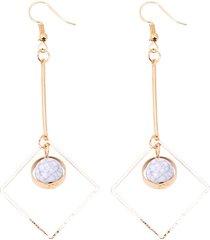 moda orecchio goccia orecchio anelli hollow rhombus geometrica vena di marmo ciondolo orecchio anelli gioielli per le donne
