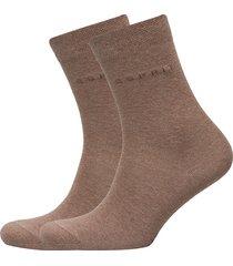 basic easy so2p ankelstrumpor korta strumpor brun esprit socks