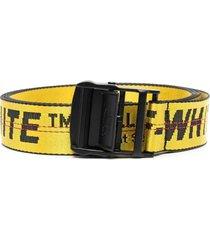 classic industrial belt, yellow & black