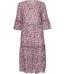 pzvilja dress knälång klänning multi/mönstrad pulz jeans