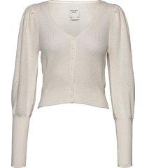 anf womens sweaters stickad tröja cardigan vit abercrombie & fitch