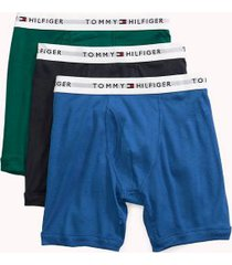 tommy hilfiger men's classic cotton boxer brief 3pk vibrant royal/navy/green - l
