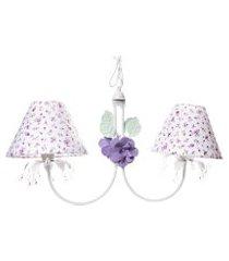 lustre 2l primavera transparente 2 flores potinho de mel lilás