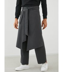 hombres japón estilo kimono streetwear hip hop loose harem pantalones