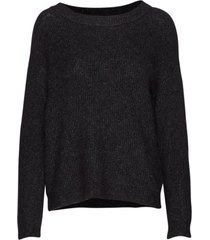 05 the knit pullover gebreide trui zwart denim hunter