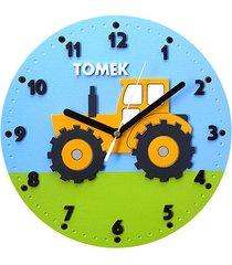 zegar ścienny dla chłopca z traktorem i imieniem