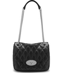 mulberry small darley convertible quilted leather shoulder bag - black