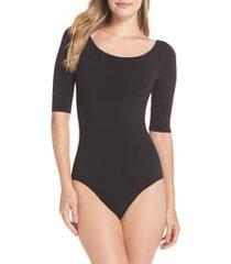 women's yummie ballet bodysuit, size large/x-large - black