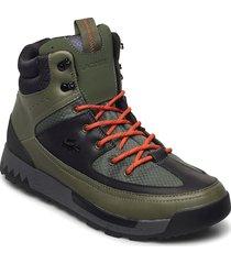 urban break 03201cma snörade stövlar grön lacoste shoes