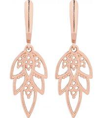 kolczyki z różowym złotem z rozetami