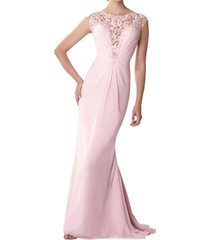dislax cap sleeves lace chiffon sheath mother of the bride dresses pink us 4