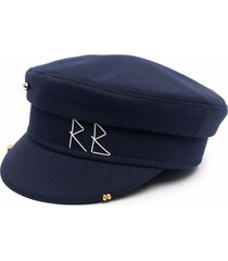 ruslan baginskiy logo-embroidered baker-boy cap