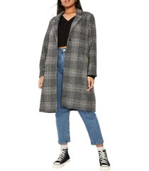 cotton on trendy plus size marty mid length coat