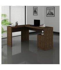 mesa escritório tecno mobili me4129 com 2 gavetas e tampo de apoio