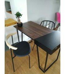stylowe ciemne biurko ze schowkiem // b10