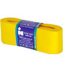 fita de cetim nº09 38mm peça com 10m amarelo ouro