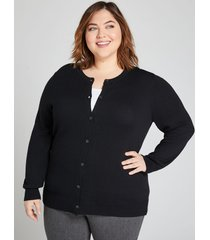 lane bryant women's button-front cardigan 18/20 black