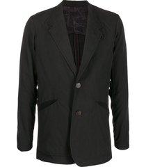 devoa slouchy blazer jacket - black