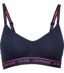 lightly lined bralet lingerie bras & tops bra without wire blå calvin klein