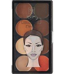 paleta de contorno 3d contour artist cream medium dark rk by kiss