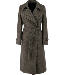 tagliatore belted waist wool blend trench