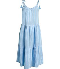 beach lunch lounge women's willa tiered tank dress coverup - day sky - size xl