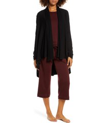 women's groceries apparel scarlette high/low blanket cardigan, size large - black