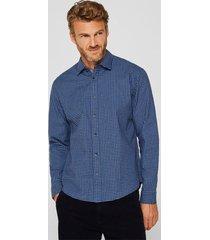 camisa a cuadros azul marino esprit