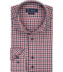 sleeve7 overhemd gekleurde oxford ruit