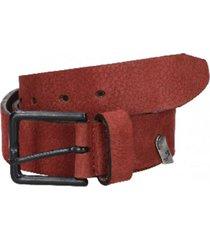 cinturón cuero variedad de texturas burdeo panama jack