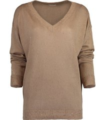 paillette v-neck pullover sweater