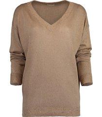 paillette v-neck pullover sweater
