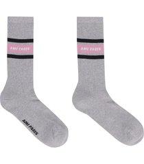 ami alexandre mattiussi logo cotton blend socks