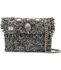 kurt geiger london tweed mini kensington crossbody bag - grey
