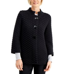 jm collection textured mandarin-collar sweater, created for macy's