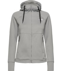 w hikest midlay-sg sweat-shirts & hoodies fleeces & midlayers grå the north face