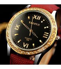 yazole orologi da donna orologi diamond gold orologi da polso in pelle di quarzo di lusso per donna