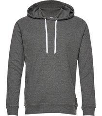 cotton rib melange star hoodie trui grijs mads nørgaard