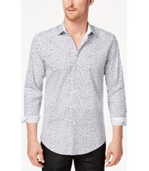 inc men's floral micro print shirt, created for macy's