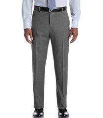 pronto uomo gray tic modern fit dress pants
