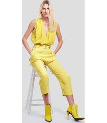 top transpasse amarelo amarelo yoko