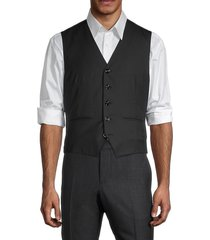 brunello cucinelli men's virgin wool & silk vest - charcoal - size 50 (40)