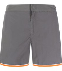 orlebar brown contrast-trim swim shorts - grey