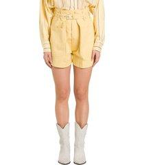 isabel marant ike cargo shorts woth high waist and belt