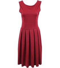 vestidos ajustados sin mangas para mujer 's otoño retro vestido mujer
